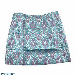 NWOT VERTY Geometric design mini skirt Large